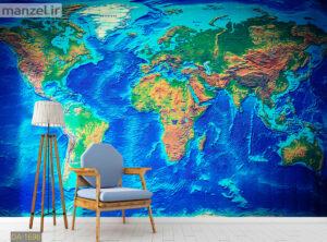 پوستر دیواری نقشه جهان DA-1696