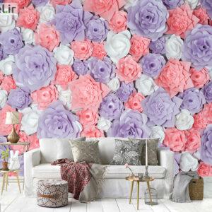 پوستر دیواری گل های کاغذی DA-1699