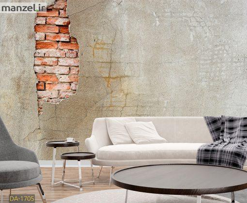 پوستر دیواری طرح دیوار آجری و گچی DA-1705