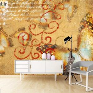 پوستر دیواری پروانه طلایی DA-1709
