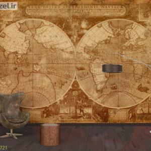 پوستر دیواری نقشه جهان DA-1721