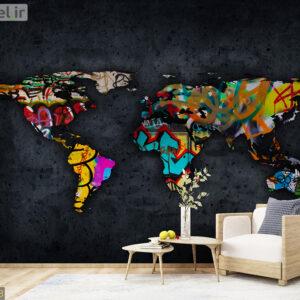 پوستر دیواری نقشه جهان DA-1723