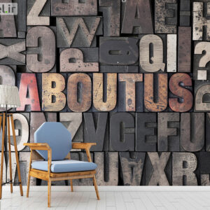 پوستر دیواری حروف انگلیسی DA-1727