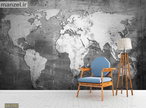 پوستر دیواری نقشه جهان DA-1767