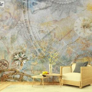 پوستر دیواری ابر و بادی ساعت DA-1778