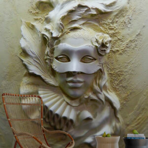 پوستر دیواری گچبری چهره DA-1857