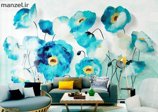 پوستر دیواری گل آبرنگی DA-1858