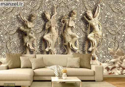 پوستر دیواری مجسمه گچی DP-1908