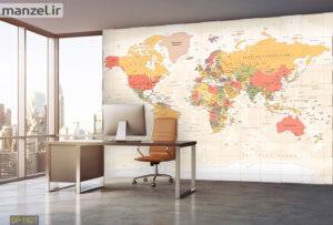 پوستر دیواری نقشه جهان DP-1927