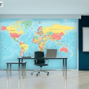 پوستر دیواری نقشه جهان DP-1928
