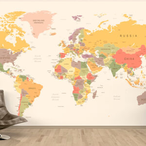 پوستر دیواری نقشه جهان DP-1930