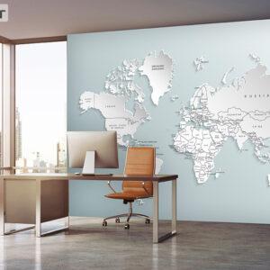 پوستر دیواری نقشه جهان DP-1931