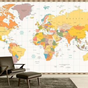 پوستر دیواری نقشه جهان DP-1933