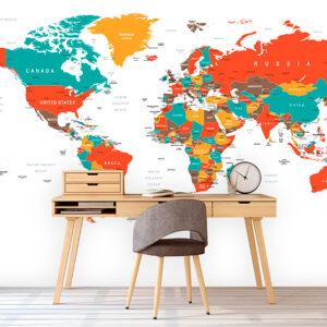 پوستر دیواری نقشه جهان DP-1935