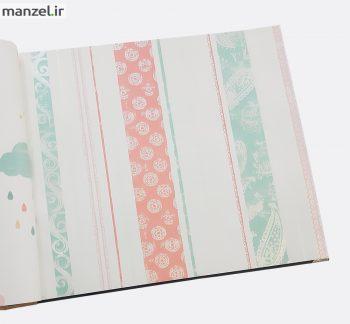 5 350x324 - کاغذ دیواری اتاق کودک طرح راه راه کد BQ270904