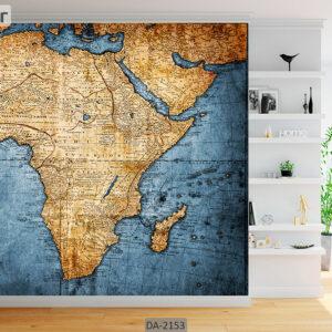 پوستر دیواری طرح نقشه جهان DA-2153