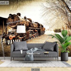 پوستر دیواری وسیله نقلیه طرح قطار DA-2216