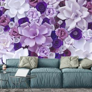 پوستر دیواری طرح گل کاغذی فانتزی DA-2221