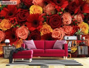 پوستر دیواری طرح گل طبیعی DA-2407