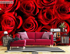پوستر دیواری طرح گل طبیعی DA-2416