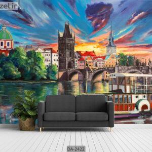 پوستر دیواری طرح نقاشی شهر DA-2422