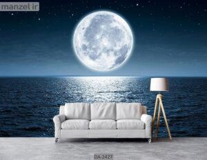 پوستر دیواری طرح ماه و دریا DA-2427