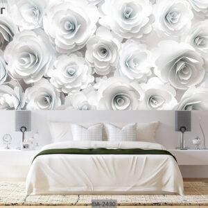 پوستر دیواری طرح گل کاغذی DA-2430