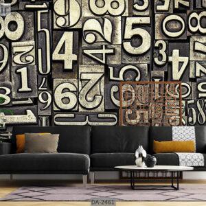 پوستر دیواری طرح حروف انگلیسی DA-2461