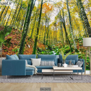 پوستر دیواری طرح جنگل پاییزی DA-2473