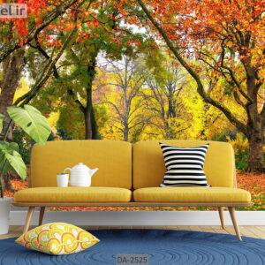 پوستر دیواری طرح جنگل پاییزی DA-2525