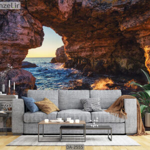 پوستر دیواری طرح دریا و صخره DA-2555