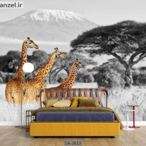 پوستر دیواری حیوانات طرح زرافه DA-2613