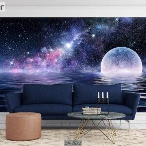پوستر دیواری طرح کهکشان و ماه DA-2622