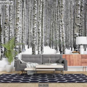 پوستر دیواری طرح جنگل زمستانی DA-2628