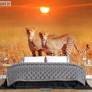 پوستر دیواری حیوانات طرح یوزپلنگ DA-2635