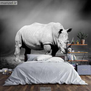 پوستر دیواری حیوانات طرح کرگدن DA-2649