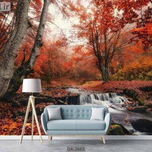 پوستر دیواری طرح جنگل پاییزی DA-2663