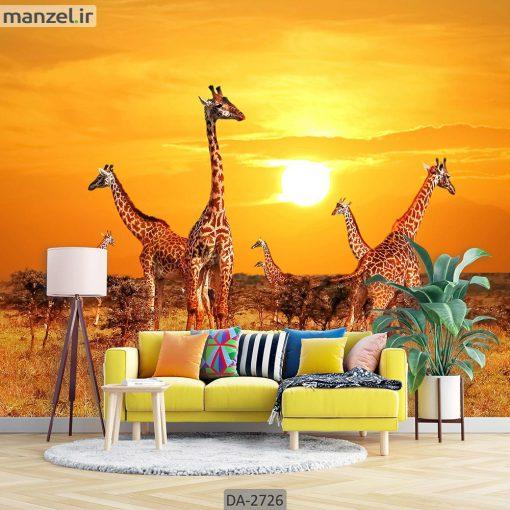 پوستر دیواری حیوانات طرح زرافه DA-2726