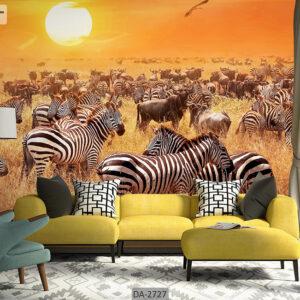 پوستر دیواری حیوانات طرح گورخر DA-2727