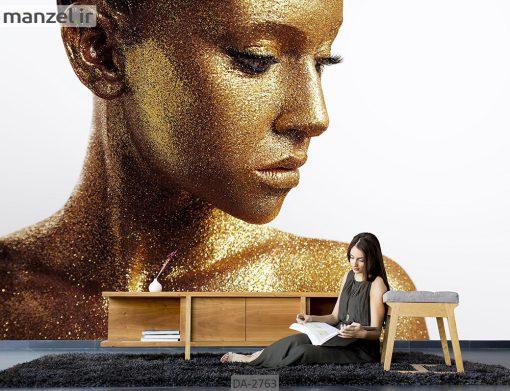 پوستر دیواری طرح چهره زن DA-2763