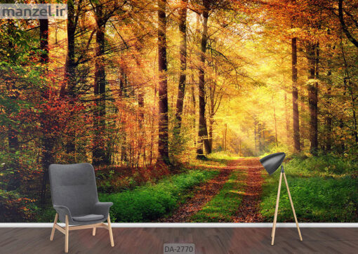 پوستر دیواری طرح جنگل پاییزی DA-2770
