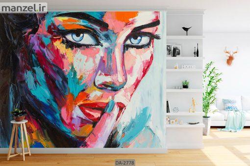پوستر دیواری طرح چهره زن DA-2778