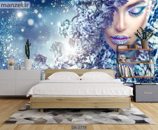 پوستر دیواری طرح چهره زن DA-2779