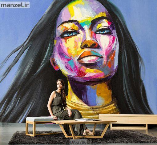 پوستر دیواری طرح چهره زن DA-2786