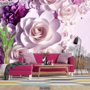 پوستر دیواری طرح گل طبیعی DA-2806