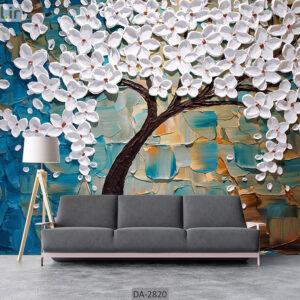 پوستر دیواری طرح درخت فانتزی و شکوفه DA-2820