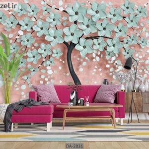 پوستر دیواری طرح درخت فانتزی و شکوفه DA-2831