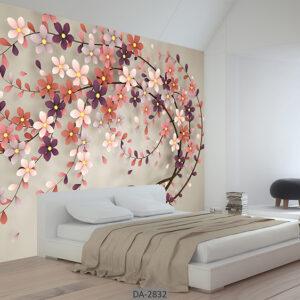 پوستر دیواری طرح گل DA-2832