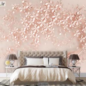 پوستر دیواری طرح گل فانتزی DA-2834