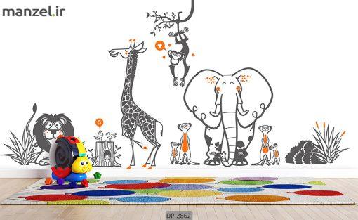 پوستر دیواری طرح کودک DP-2862